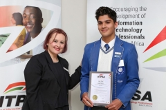 2018 AO Finalist Liam Pillay receiving certificates from Ulandi Exner (IITPSA President) IMG_9810