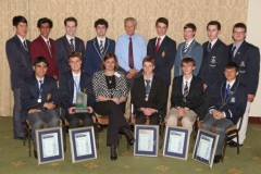 2014-po-finalists-and-peter-waker-and-mec-for-education-debbie-schafer-with-medal-winners-img_7150