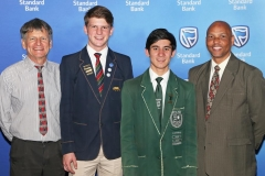 2018 PO Finalists Retief Louw (Felixton College, dad Arno Louw with Warren Hood and Eddie Curtis (Eshowe High) IMG_0980