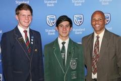 2018 PO Finalists Retief Louw (Felixton College) with Warren Hood and Eddie Curtis (Eshowe High) IMG_0979
