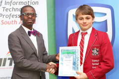 2019 PO Finalist Faran Steenkamp Honourable Mention certificate awareded by Thabo Mashegoane - IITPSA President IMG_4340