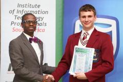 2019 PO Finalist Jean du Plessis Honourable Mention certificate awarded by Thabo Mashegoane - IITPSA President IMG_4341