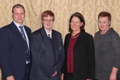2017 PO Finalist Christina Mauer, Gustav Mauer (father), Hilde Coetzee (teacher Durbanville High), Margaretha Mauer (mother) IMG_6469