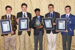 2017 PO Winners, Donal Davies (bronze), Tiaan Cilliers (silver), Taariq Mowzer (gold), Ralph McDougall (silver), Emile Tredoux (bronze) IMG_6473