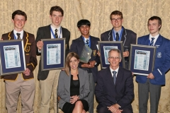 2017 PO Winners with Nicole Borges (Standard Bank) and Michael Cameron (Computer Olympiad) IMG_6475